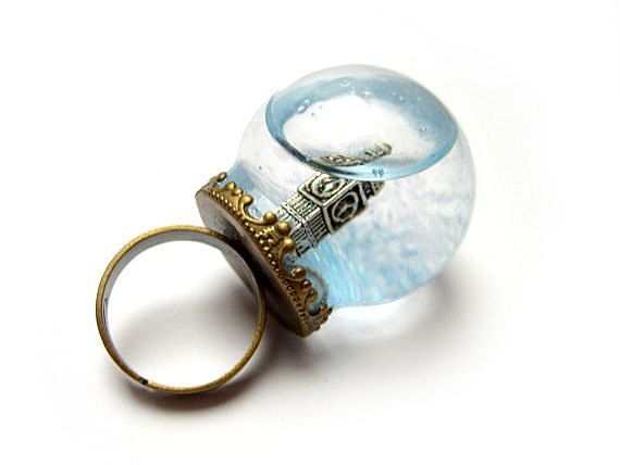 Big Ben Snow Globe ring