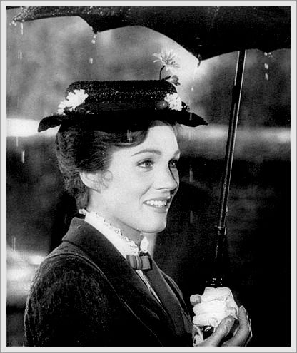 "Mary Poppins - Julie Andrews won the Academy Award for Best Actress for her performance as Mary Poppins and the film also won Oscars for Best Film Editing, Original Music Score, Best Song for ""Chim Chim Cher-ee"" and Best Visual Effects, and received a total of 13 nominations."