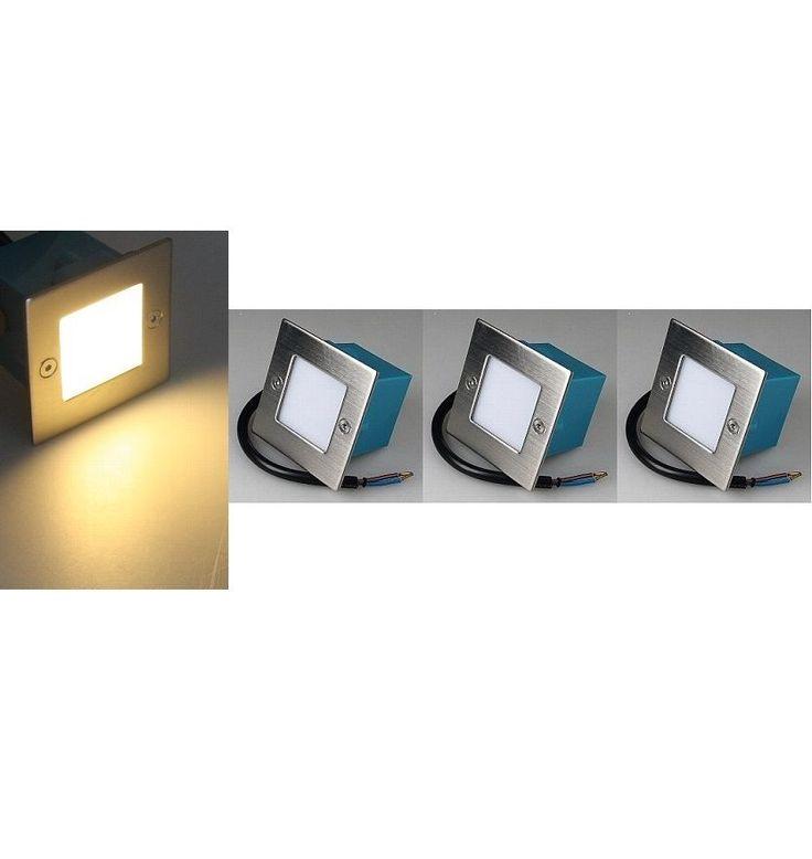 3er Set LED-Einbauleuchte Edelstahl Wandleuchte Treppenlicht warmweiß IP54 20578 | Möbel & Wohnen, Beleuchtung, Lampen | eBay!