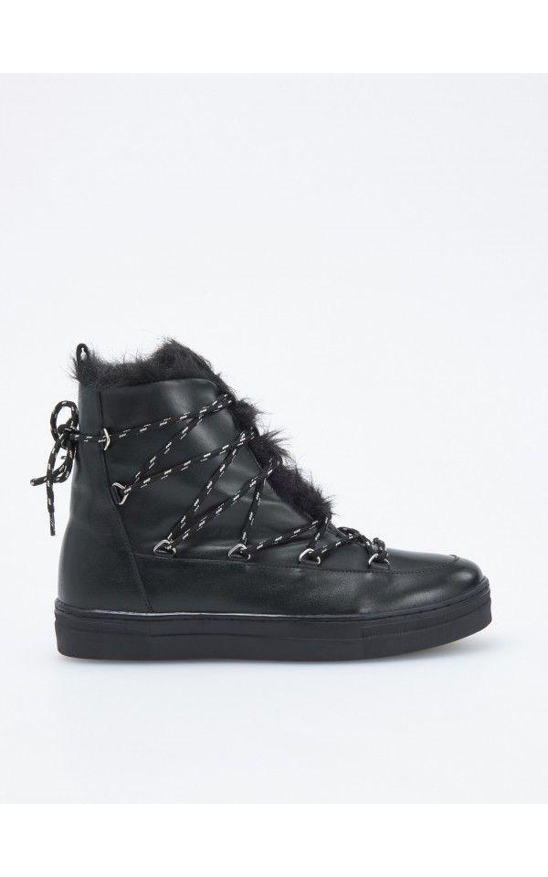 Zateplené kožené topánky 868ff70b176
