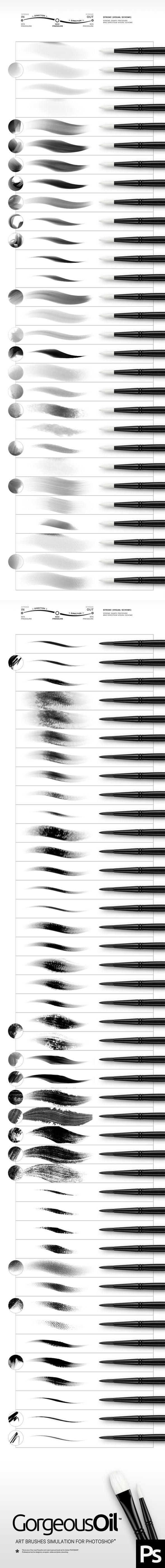 Oil Photoshop Brushes. Download here: http://graphicriver.net/item/oil-brushes/15815729?ref=ksioks