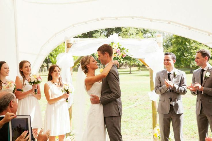I do sealed with a kiss. The altar and Capri Marquee is available for hire at Top Cover Marquees topcover.co.nz