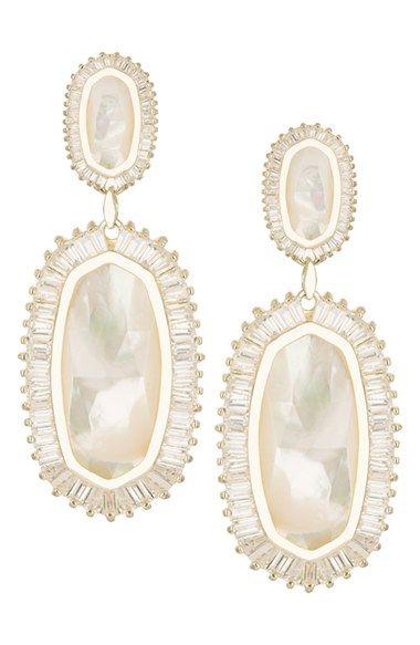 Women's Kendra Scott 'Kaki' Drop Earrings - Gold Ivory Mother Of Pearl by: Kendra Scott @Nordstrom