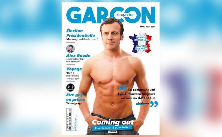 Présidentielle: Emmanuel Macron torse-nu en couverture de «Garçon Magazine»