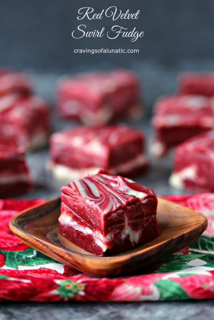 Red Velvet Swirl Fudge from cravingsofalunatic.com- Nothing beats an easy to make fudge recipe during the holidays, especially one that looks so impressive. This might look hard but it's incredibly easy, quick and absolutely delicious! (@CravingsLunatic)