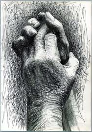 I absolutely love pen or pencil drawings of hands. I'm not sure why; they've always captivated me.
