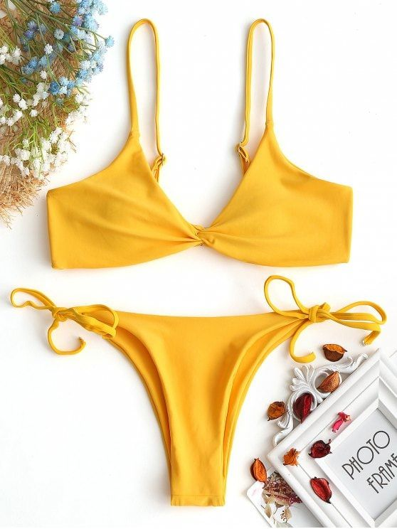 Up to 80% OFF! Cami Twist Front String Bikini Set. #Zaful #Swimwear #Bikinis zaful,zaful outfits,zaful dresses,spring outfits,summer dresses,easter,super bowl,st patrick's day,cute,casual,fashion,style,bathing suit,swimsuits,one pieces,swimwear,bikini set,bikini,one piece swimwear,beach outfit,swimwear cover ups,high waisted swimsuit,tankini,high cut one piece swimsuit,high waisted swimsuit,swimwear modest,swimsuit modest,cover ups @zaful Extra 10% OFF Code:ZF2017