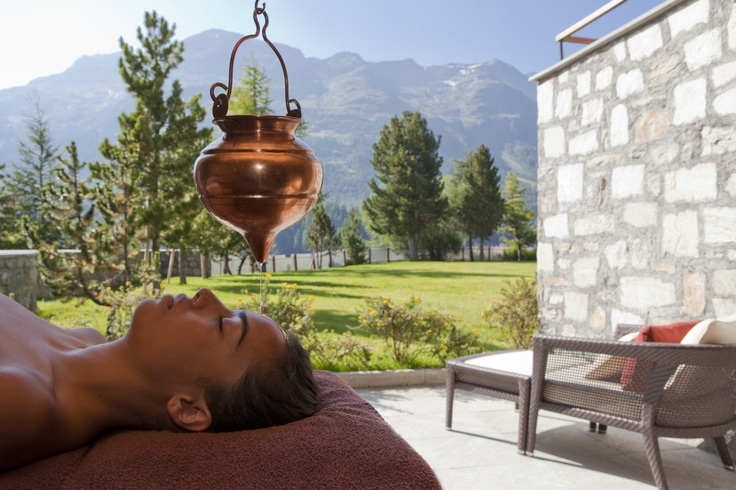 The Ayurvedic Facial at Badrutt's Palace Hotel cleanses the skin with a special mix of herbs, releasing impurities and dead skin cells. After cleansing, a purifying mask is applied and a traditional facial massage where the skin is treated with rejuvenating organic oils.