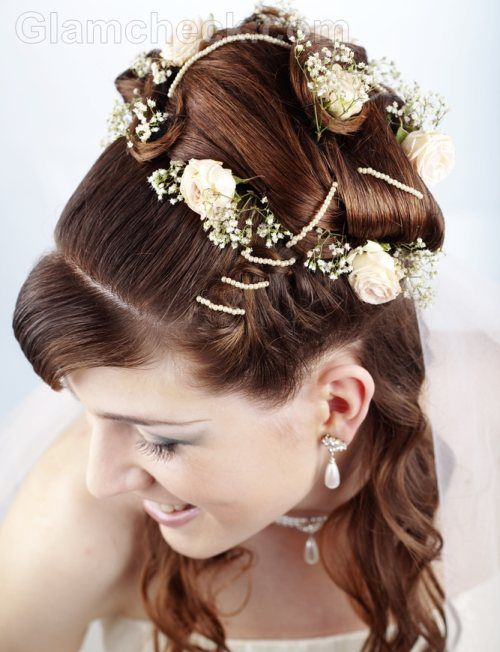 Bridal Hairstyle With Rose : 35 best wedding day hairstyles images on pinterest