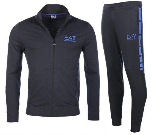 Emporio Armani EA7 tuta uomo fashion completo felpa pantaloni blu EU M (UK 38) 6XPV59 PJ05Z 1578