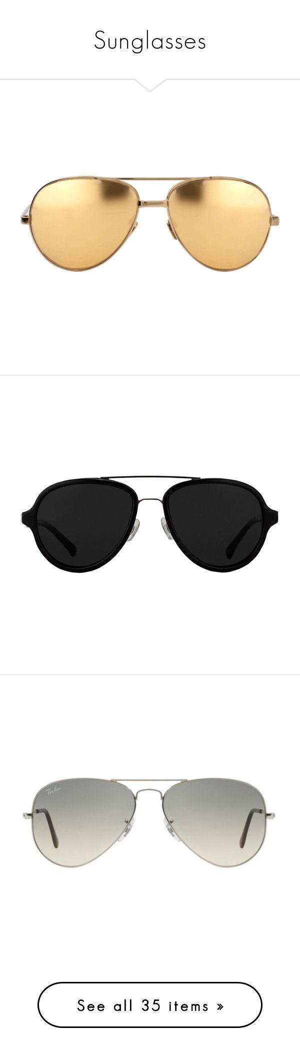 """Sunglasses"" by melissaobey ❤ liked on Polyvore featuring accessories, eyewear, sunglasses, glasses, extras, mirrored aviators, linda farrow sunglasses, gold aviators, gold aviator sunglasses and mirrored sunglasses"
