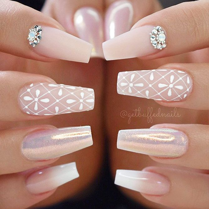 18 Cute Nail Designs that You Will Like for Sure ★ Cute Nail Designs with Soft Pink Shades for Princesses Picture 1 ★ See more: http://glaminati.com/cute-nail-designs/ #cutenails #cutenaildesigns