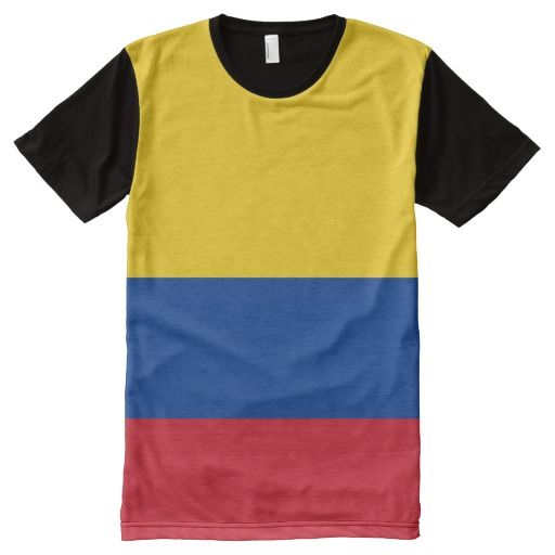 Colombia - Colombian Flag All-Over Printed T-Shirt