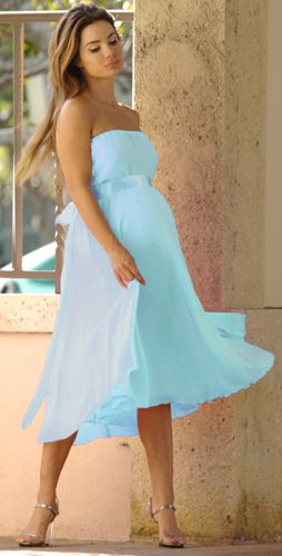 baby blue bridesmaid dresses.. If any bridesmaids of mine are.. Or get pregnant.. I've already thought about you ha :)