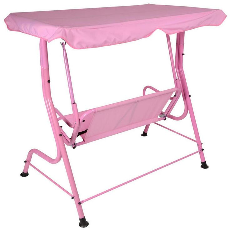Pink canopy swing
