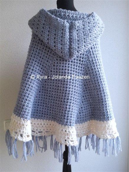 Patr1040 Omslagdoek Haakpatroon Patroon Haken Gehaakt Crochet