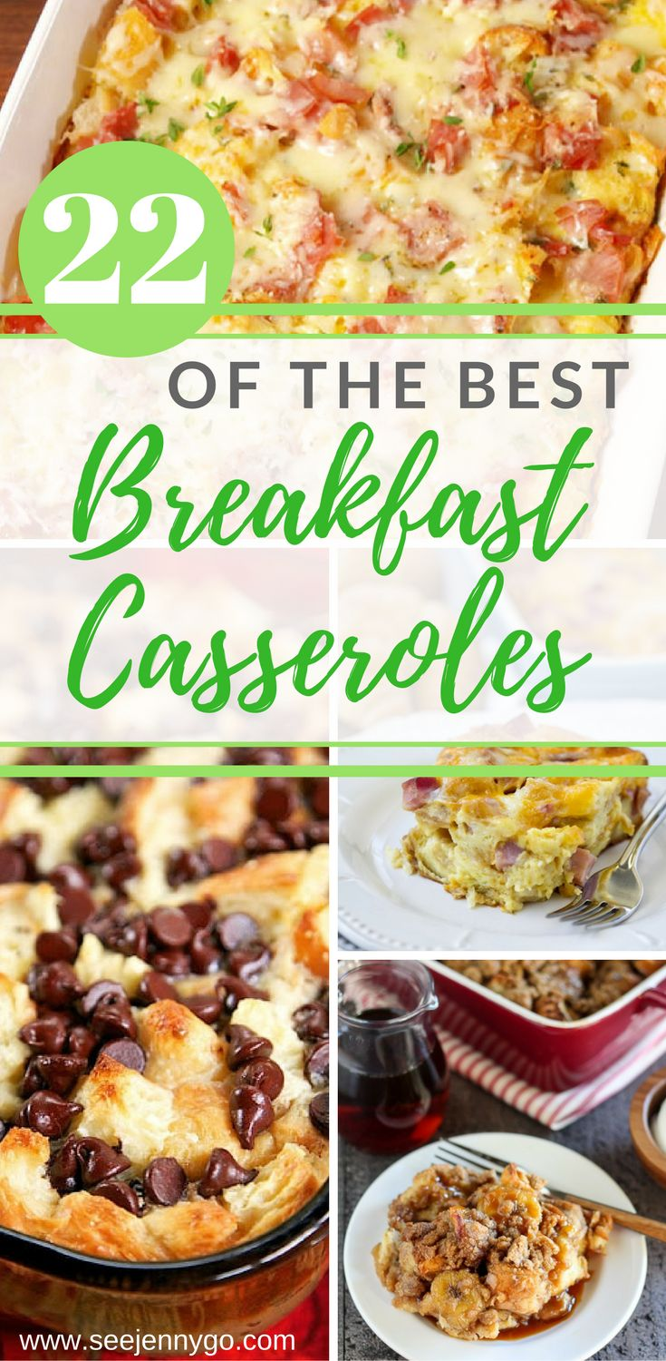 Enjoy the best breakfast casseroles that are easy to make and can be made ahead of time!