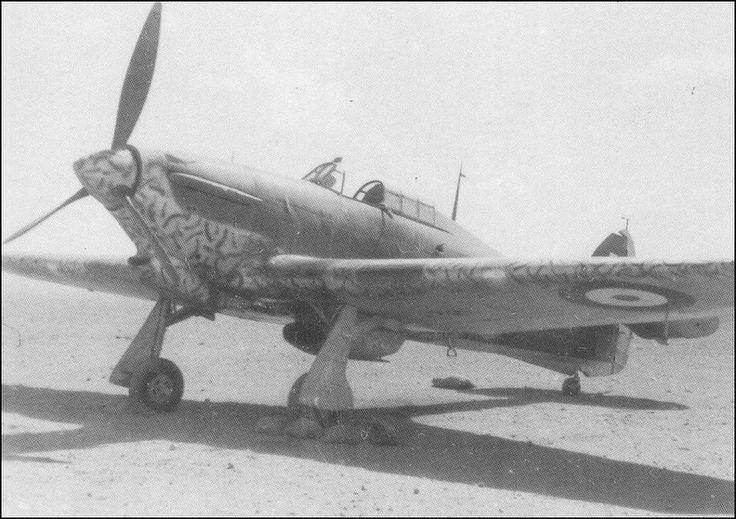 Hawker Hurricane Mk I/Trop of 73. Sqn in unusual camo scheme - North Africa 1941.