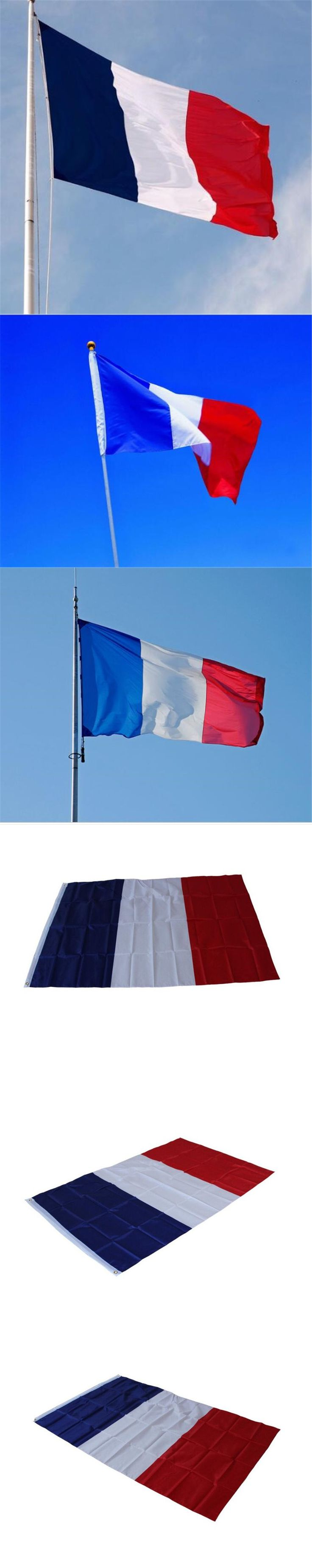 New Feet Large Polyester French Flag the France National Flags Home Decor $2.99