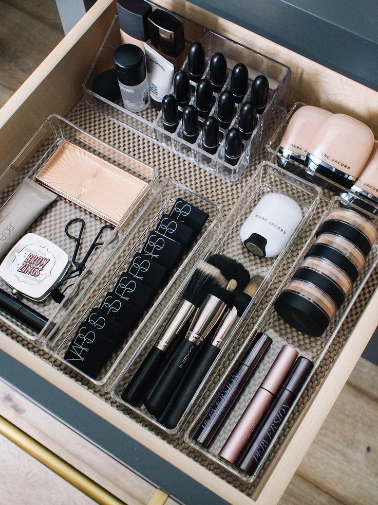 Wie ich meine Make-up-Schubladen organisiere