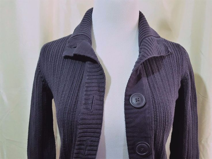 Womens L.O.G.G. H & M Sweater Small  Blue Button Down Front Girls Youth 14/16 #LOGG #Cardigan #Casual
