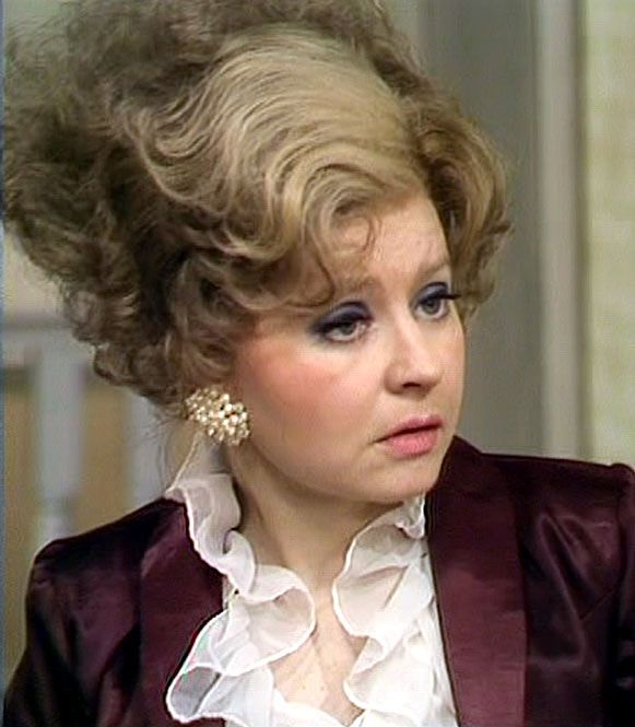 Prunella Scales plays Sybil Fawlty,  Basil's snarky, sharp tongued wife in,  'Fawlty Towers'.