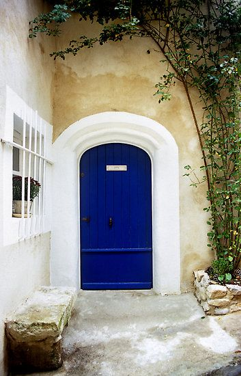 Blue Door- The outside of my house doesn't look like this but I'm painting the door this color <3