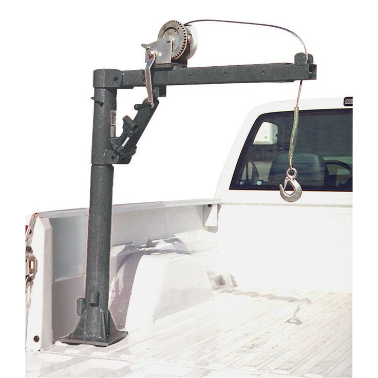 Electric truck bed hoist 25 litre fuel container
