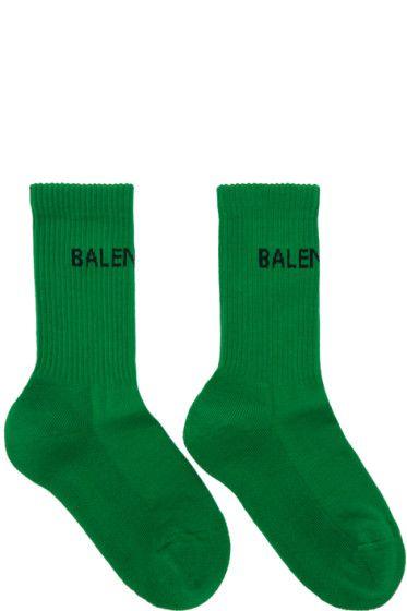 57266c2dbd6 Balenciaga - Green New Logo Tennis Socks