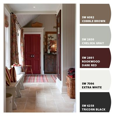 10 best images about dark red house on pinterest front for Country home interior paint colors