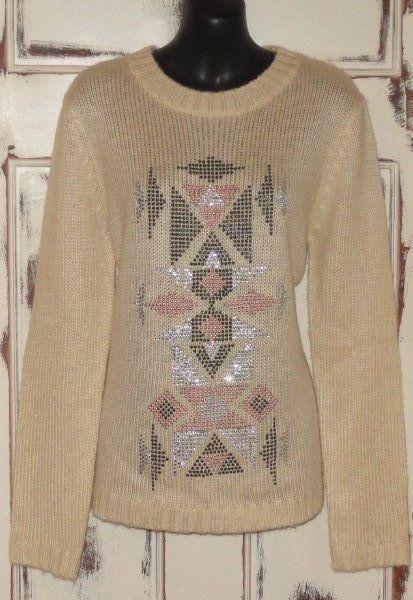 NWTS Miss Me Womens Christmas Sweater Medium Long Sleeve EMBELLISHED