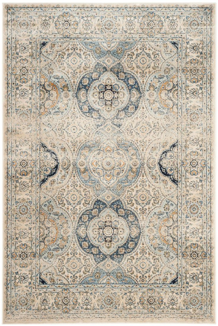 PGV611C Rug from Persian Garden Vintage collection.  The classic design of antique Persian rugs is treated to a designer-look, distressed patina in these marvelously imaginative area rugs. Traditional motifs drenched in a rich classic color palette peek through a subtle, vintage veil that imparts contemporary styling on Old World rug making artistry. The fusion of then and now creates a smart, sophisticated look ideally suited for traditional or transitional decor preferences.
