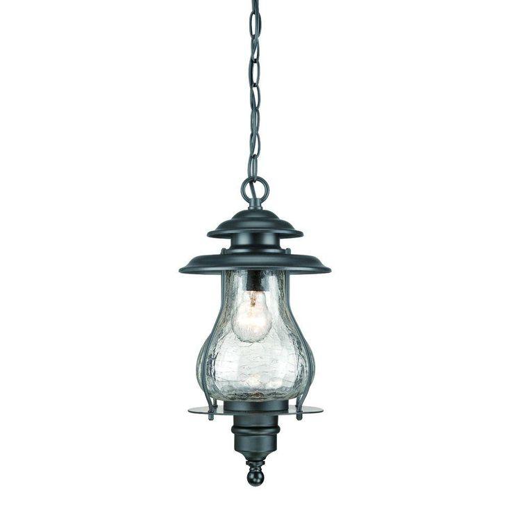 Acclaim Lighting Blue Ridge Collection 1-Light Matte Black Outdoor Hanging Lantern-8206BK