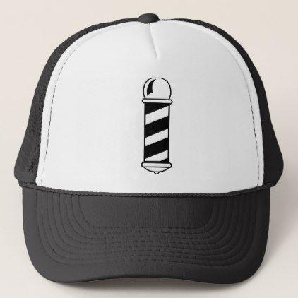 Barber Shop Pole Trucker Hat - accessories accessory gift idea stylish unique custom