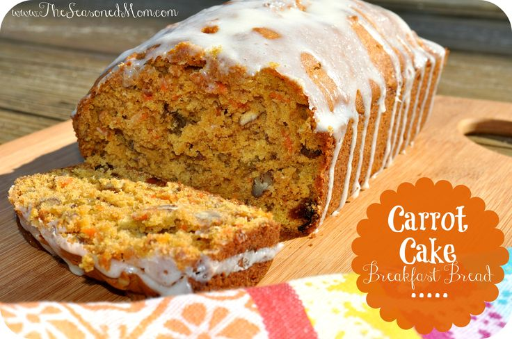 Carrot Cake Breakfast Bread on MyRecipeMagic.com: this is the perfect treat for a spring breakfast or brunch!  It sounds decadent, but it's full of healthy ingredients and it's a delicious way to start your day.