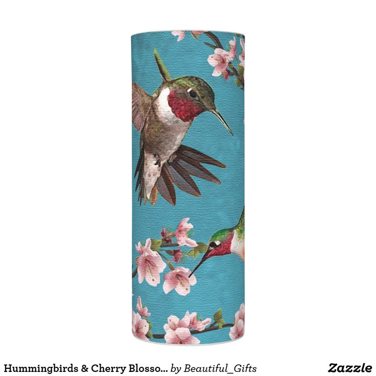 Hummingbirds & Cherry Blossoms Flameless Candle