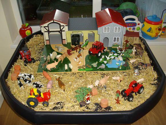 small world play; farm