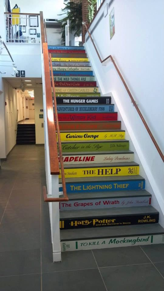 Turn your staircase into a giant library. | 27 Incredibly Clever DIYs All True Book Lovers Will Appreciate