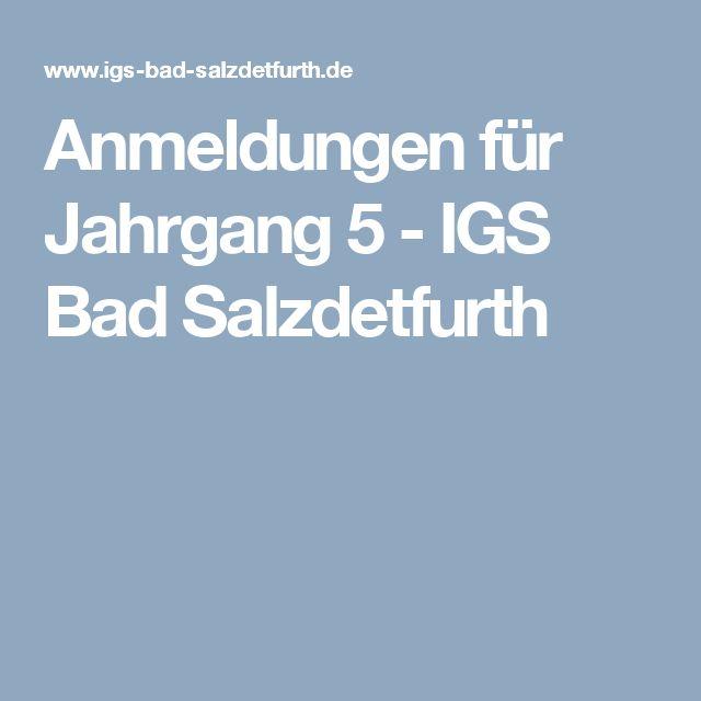 Anmeldungen für Jahrgang 5 - IGS Bad Salzdetfurth