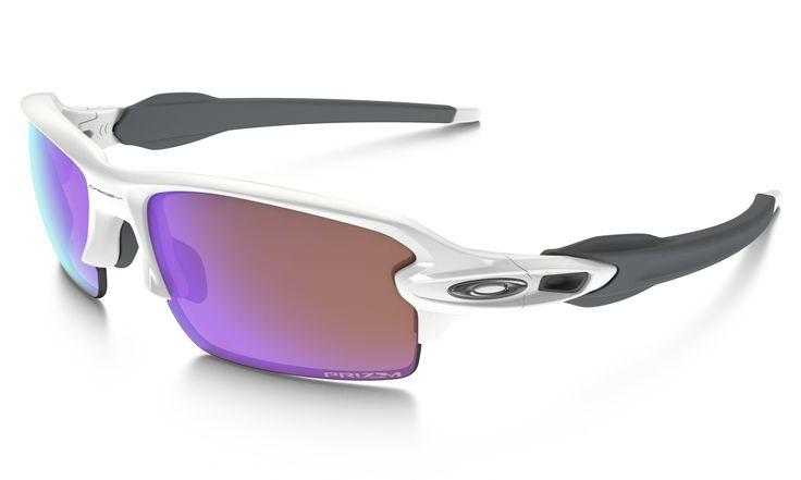 Oakley Flak 2.0 PRIZM Golf in POLISHED WHITE / PRIZM GOLF | Oakley