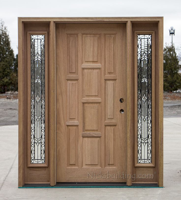 solid mahogany door with sidelights CL-667