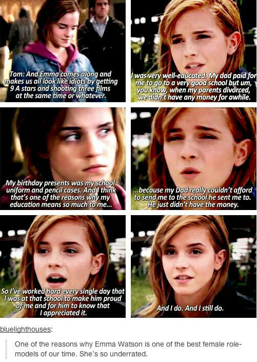 One reason why Emma is a role model.