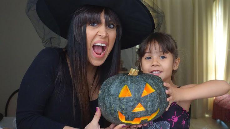 Decoração de Festa Halloween Lanterna de Abobora Tutorial