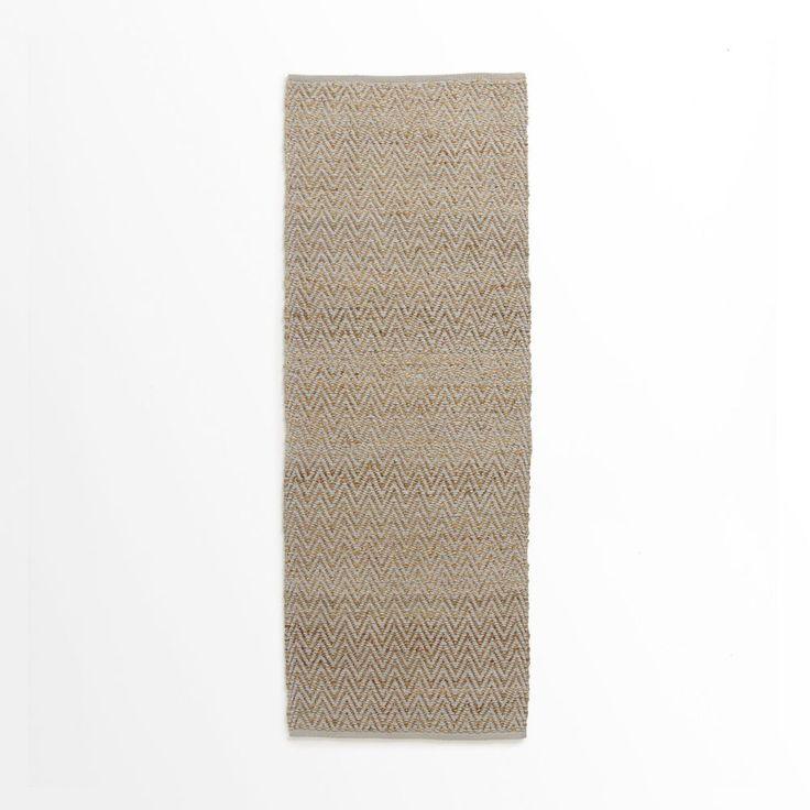 Jute Chenille Herringbone Rug - Natural/Platinum