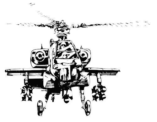 Helicopter Coloring Sheet