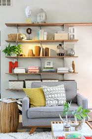 Wall Shelving Ideas For Living Room 193 best home - wall mounted shelving images on pinterest | book