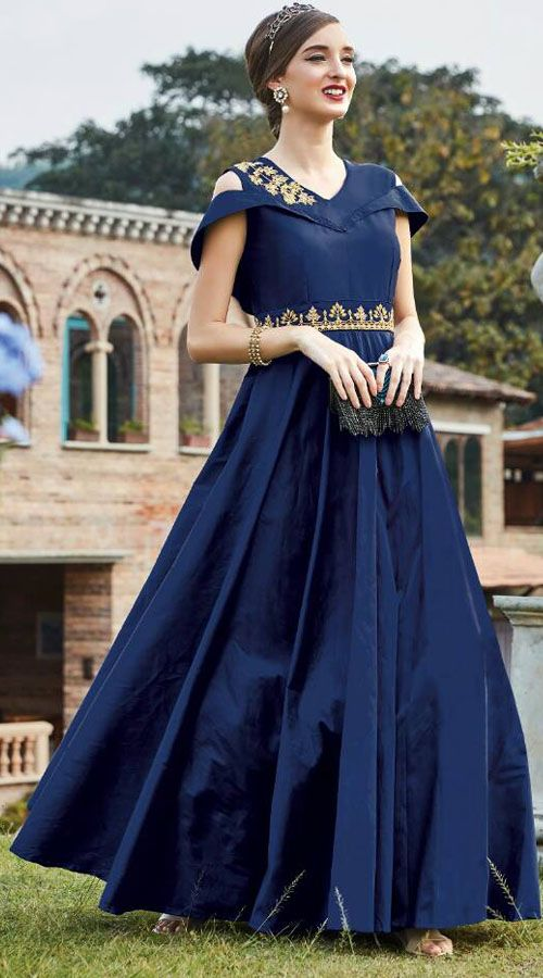 Blue Cold Shoulder Art Silk Gown WG88012 Get this dress from : https://lnkd.in/fw6MeAg #indiabazaaronline #IndowesternGowns #PartyWear #Blue #ArtSilk #ColdShoulder #Gown #designergown #Indowesterndresses #buyindowesterngownonline #GownsOnline #longindowesterngowns #indowesterngowndress #indowesterngowns2017 #OnlinePartyWearGowns #EveningGowns #Dresses