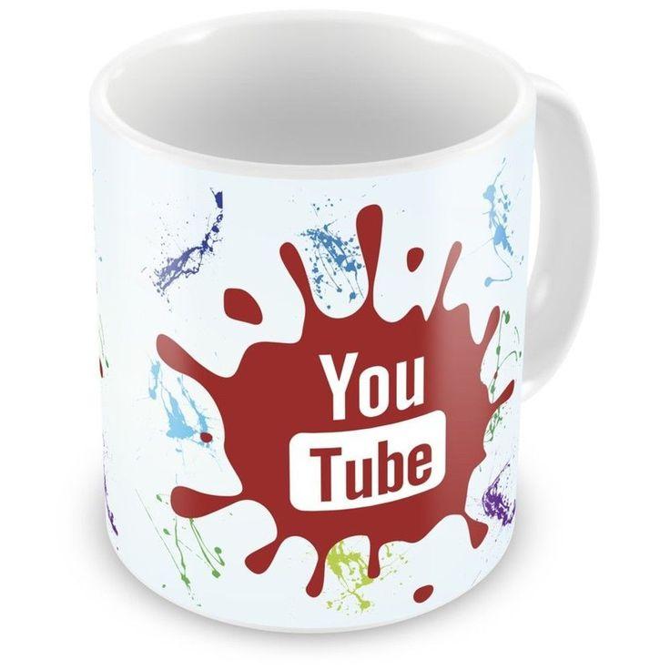 Caneca de Porcelana Splat Redes Sociais You Tube - ArtePress - Brindes em Almofadas, Canecas, Copos, Squeeze
