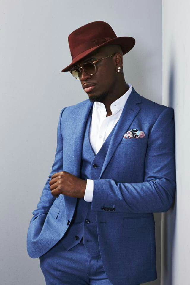 Ne-Yo And a three piece suit