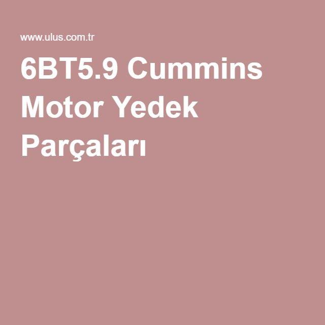 6BT5.9 Cummins Motor Yedek Parçaları